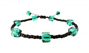 Bransoletka BoHo Crystal – Malachite Green